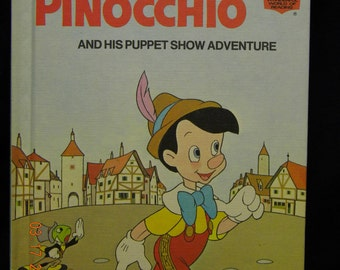 Pinocchio and his puppet show adventure, walt disney 1973