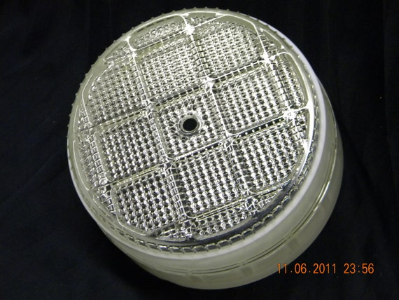 Ceiling Light Cover Only : Vintage ceiling light cover cut glass s by