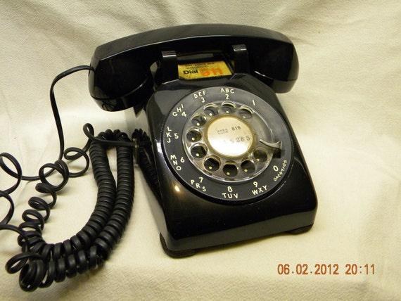 Rotary Phone Black