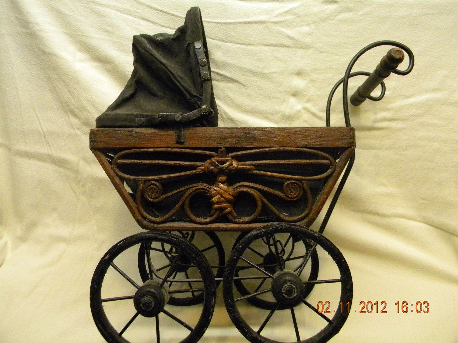 Baby Carriage Wicker 1900s Salesmans Sample