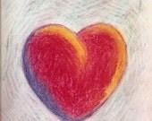 """Fine Art Original Drawing: """"Heart"""""""