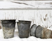 Vintage French Zinc Pots-reserved 3 for Joan