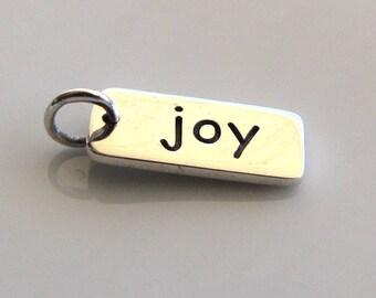 JOY Sterling Silver Word Charm