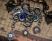Kraken Steampunk Pendant