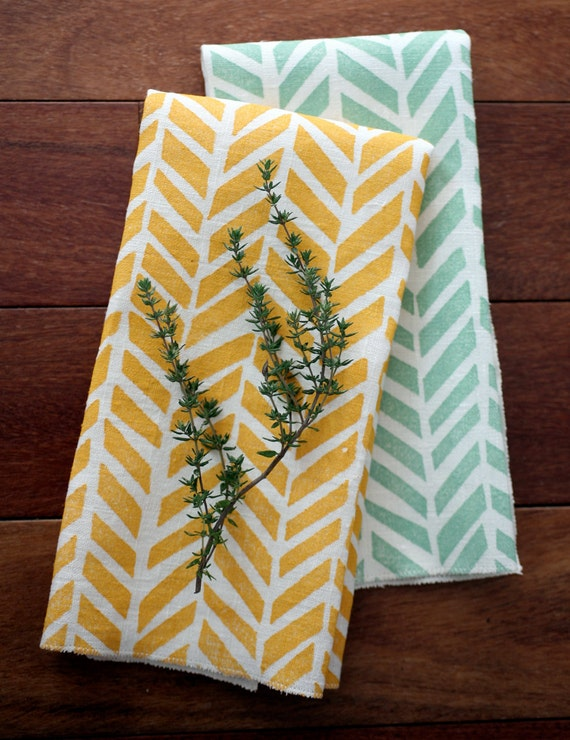Any 2 Linen Tea Towels - Mix & Match