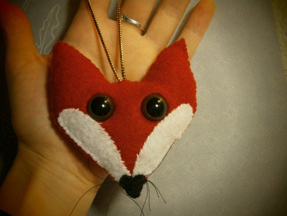 Mr. Red Fox - Decorative handstitched felt animal ornament