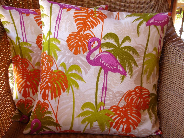 Outdoor Pillow Cover Flamingo Pillow Cover Hot Pink