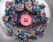 Crochet Headband Knit Flower Beige, Pink, Brown, Blue shades Spring accessory