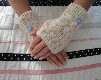 Fingerless gloves Handwarmers  Hand Knit  Wrist Warmers Handmade Handknit