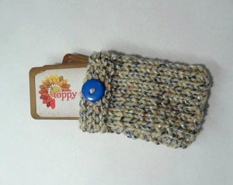Business Card Case Hand Knitted  Card  Holder Pouch