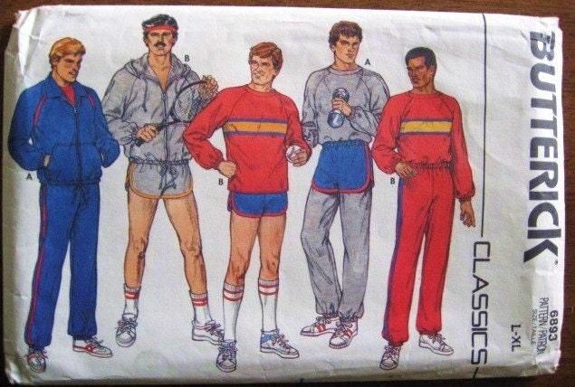 Retro 1980s Men S Sports Or Workout Wardrobe Jacket Top