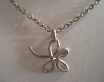 Wire Initial K Necklace