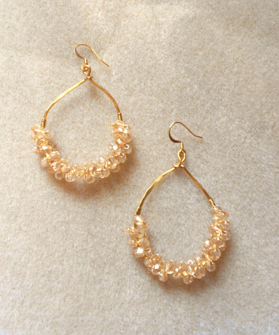 Anthropologie Inspired Teardrop Cluster Earrings