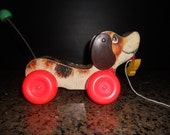 Vintage 1960's Fisher Price 'Little Snoopy' Pull Toy
