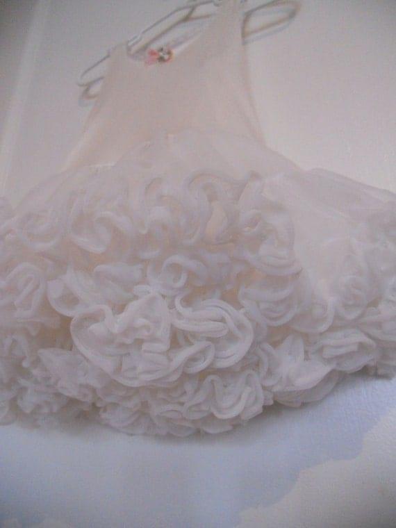 Vintage Little Girl/Toddler Full White Princess Petticoat Slip / Tutu Size 4 Toddler