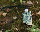 SALE (Was 15 USD) Fresh Water Handmade Ceramic Pendant