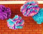 6 Tissue Poms- Abby Cadabby Party