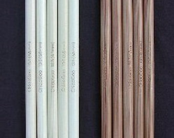 ChiaoGoo Bamboo Double Point Knitting Needles Sizes US 9 - 10.5 // 6 inch //