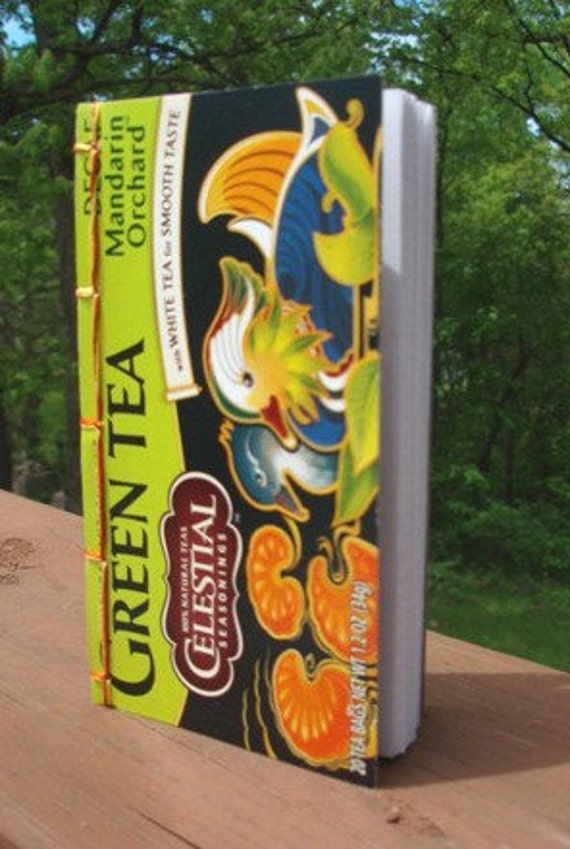 Green Tea Pocket Journal with mandarin ducks