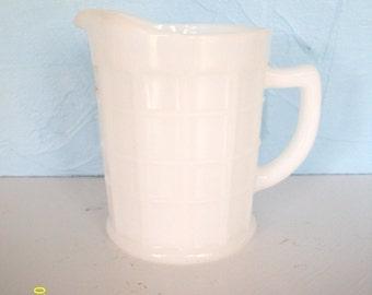 Vintage White Milk Glass Little Pitcher Creamer