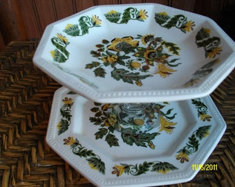 Recycled China Catch All DIsh / Soap Dish / Candy Dish / Catch All / Recycled Vintage Johnson Bros. China