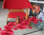 Red Pleather Table Runner