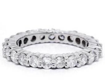 Diamond Eternity Ring Diamond Eternity Band Diamond Wedding Ring Diamond Wedding Band Wedding Ring 14K White Gold Wedding Band Sizes (4-9)