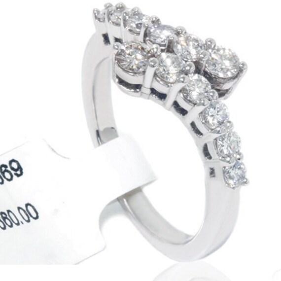 VS .78CT Diamond Journey Right Hand 14k White Gold Ring
