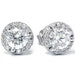 Martini Diamond Pave Halo . 85CT VS Studs 14K White Gold Womens Earrings