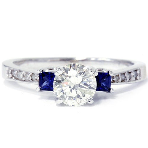 princess cut blue sapphire ring reserved for arren