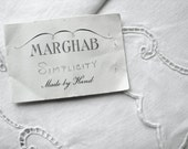 Reserved for Anne Marie D'arcy Vera Marghab Simplicity White Linen Placemats and Napkins Madeira Cut Work Embroidery