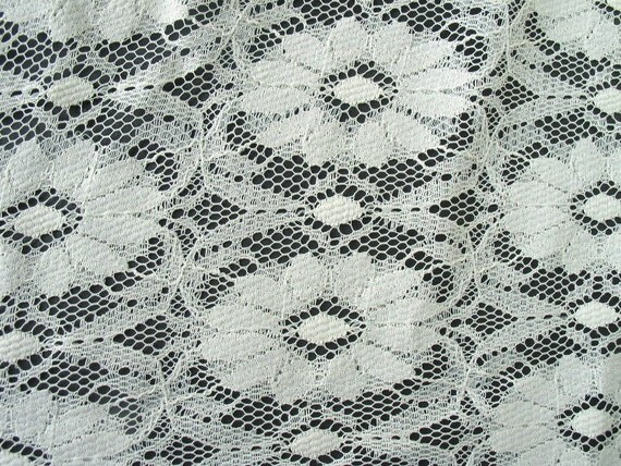 2 Pieces of Vintage Silky Rayon Lace