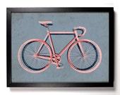 Road Bike, Home, Kitchen, Nursery, Bath, Dorm, Office Decor, Wedding Gift, Housewarming Gift, Unique Holiday Gift, Wall Poster