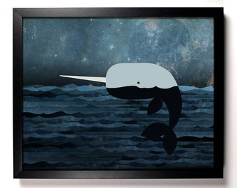 Whale Tales, Home, Kitchen, Nursery, Bath, Dorm, Office Decor, Wedding Gift, Housewarming Gift, Unique Holiday Gift, Wall Poster