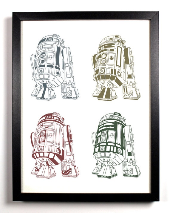 R2D2 Star Wars, Home, Kitchen, Nursery, Bath, Dorm, Office Decor, Wedding Gift, Housewarming Gift, Unique Holiday Gift, Wall Poster
