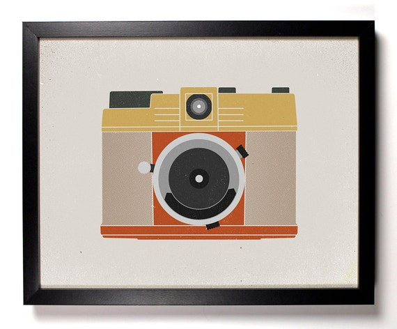 Illustrated Camera, Home, Kitchen, Nursery, Bath, Dorm, Office Decor, Wedding Gift, Housewarming Gift, Unique Holiday Gift, Wall Poster