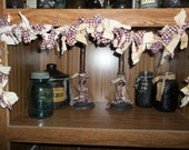 Primitive Rag-Tie  Lighted Garland