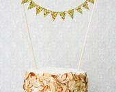 Cake Bunting - Yellow - SINGLE SIDED