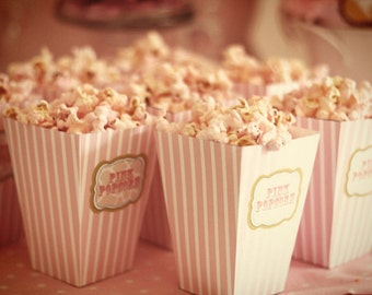 DIY PRINTABLE Popcorn or Cotton Candy Box