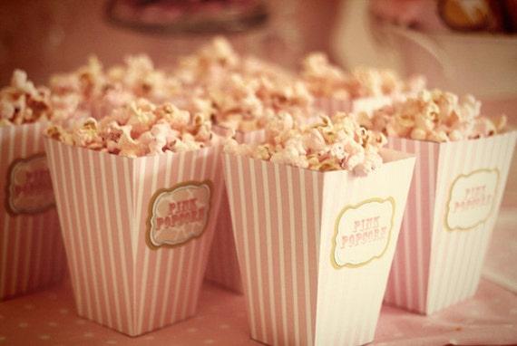 DIY PRINTABLE Popcorn or Cotton Candy Box