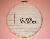 Personalized embroidered message