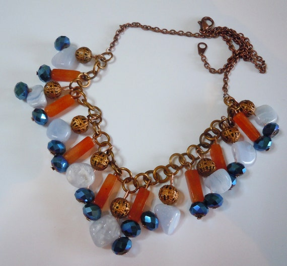 Oranges in the sky,  statement necklace  215