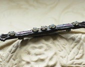 Victorian Bar Pin with Rhinestones