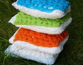 Say Goodbye to Stinky Hands with this Eco Friendly  Machine Washable Sponge for Kitchens, Bathrooms, Dishes, etc - Single WashIt