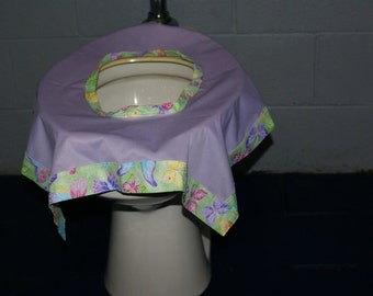 On the Go Reusable & Washable Toilet Seat Cover w/ Carry Bag - No More Little Hands on Public Toilets-Purple/Butterflies