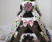 Lovely, Sophisticated, Hairbow Themed Diaper Cake