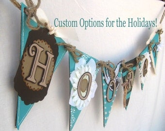 Hooray Party Pennant Bunting Banner Customize for Weddings and Birthdays