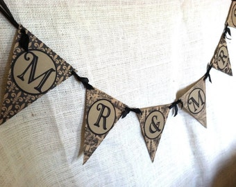 Clearance Wedding Pennant Banner Mr & Mrs Photo Prop