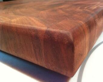Walnut end-grain cutting board