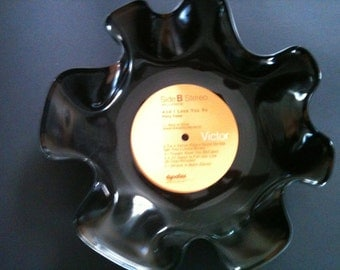 Perry Como Bowl Made from a Recycled Record